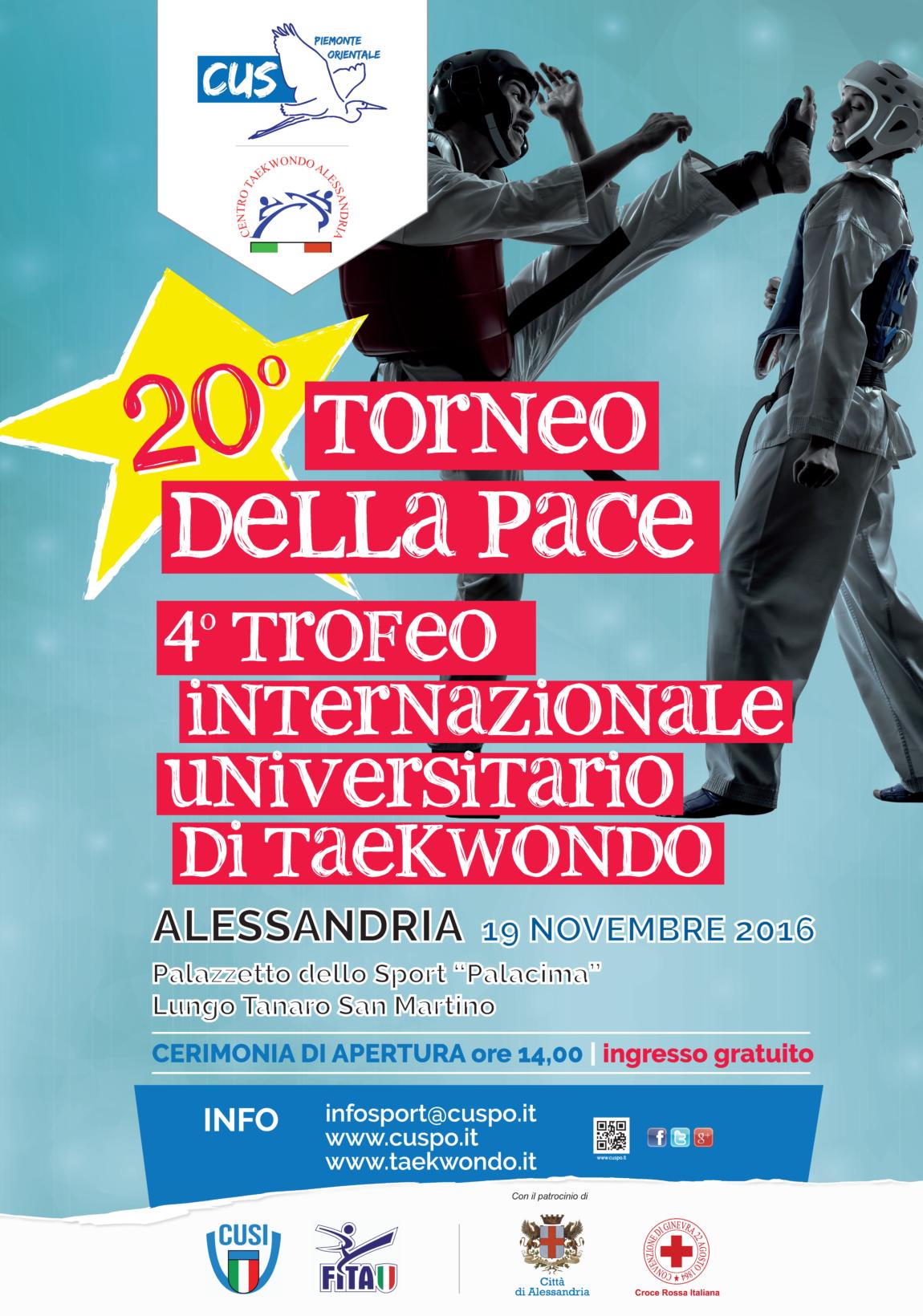 20° Torneo della Pace – 4° Trofeo Internazionale Univ. di Taekwondo