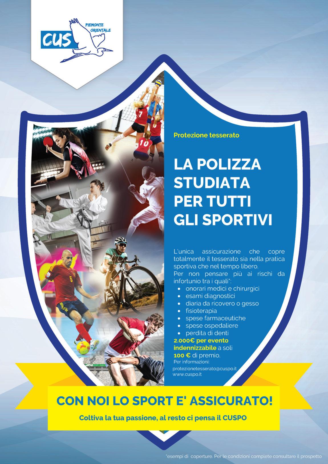 Protezione Tesserato: lo sport ed il tempo libero sono assicurati!