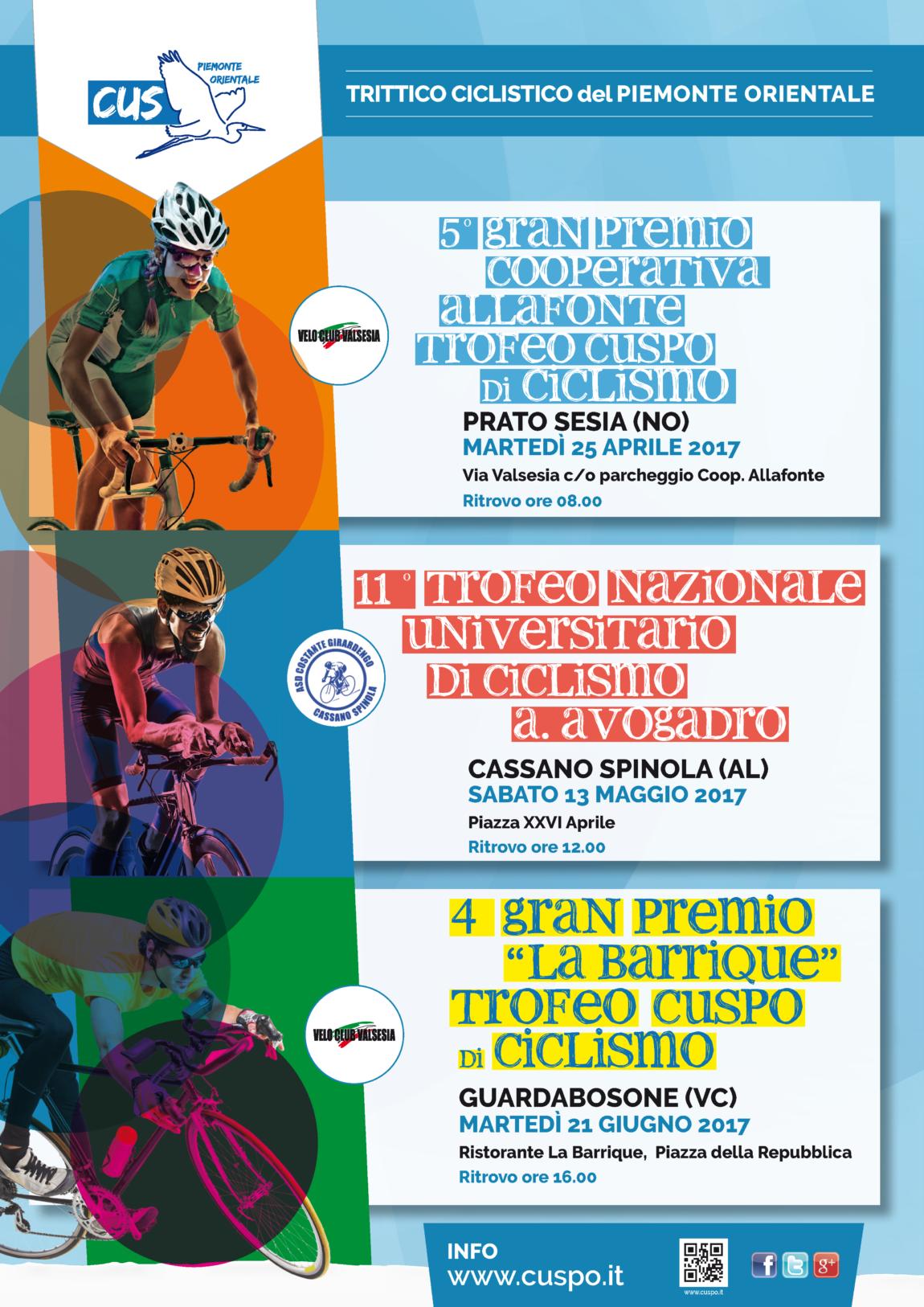 Trittico Ciclistico del Piemonte Orientale 2017: tutte le date